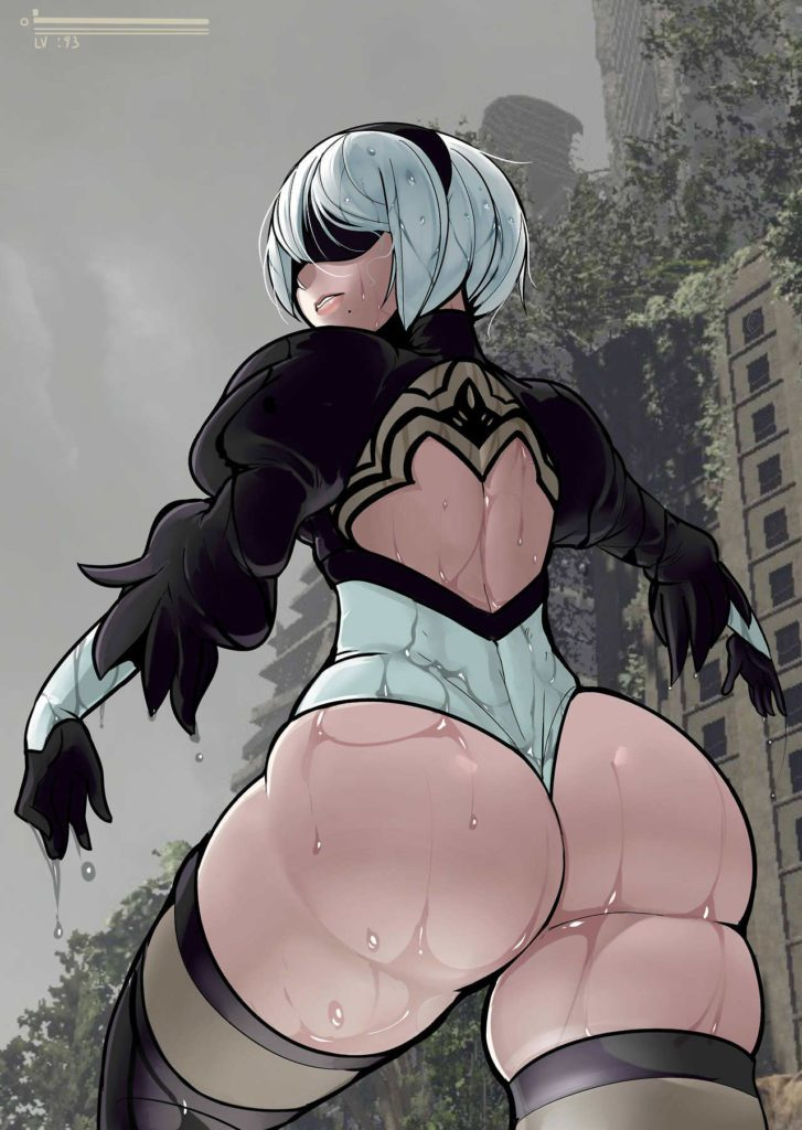 Nier Automata 2B fat ass thick thighs