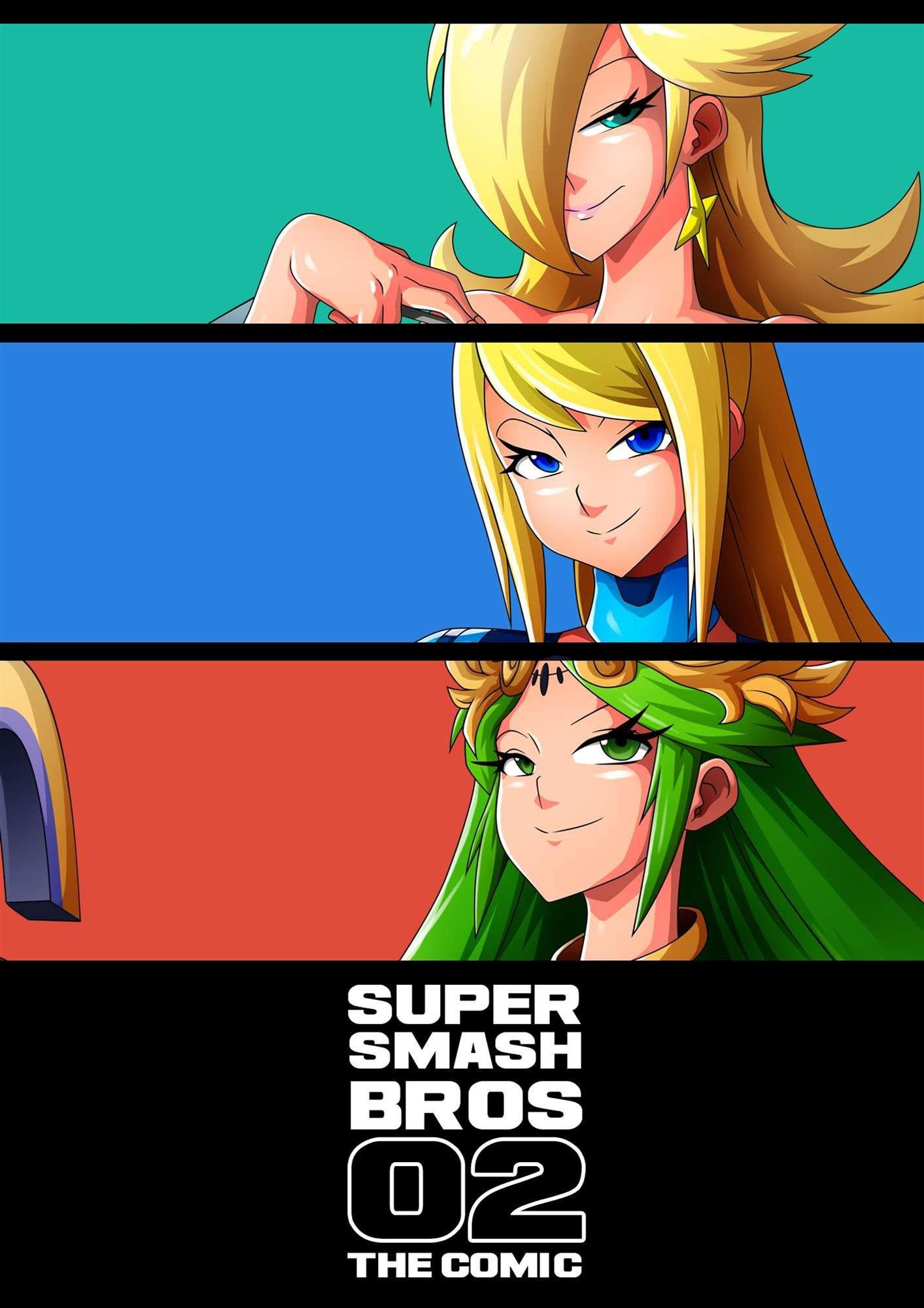 Futanari Samus Palutena Zelda Wii Fit Trainer and Princess Peach Rosalina fucking each other Nintendo