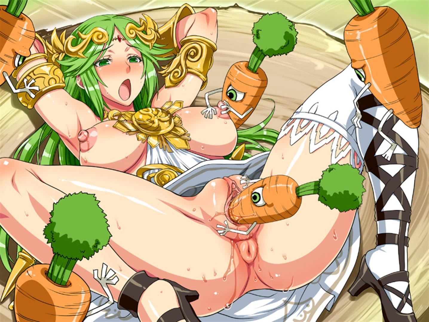 Palutena fucked by carrots