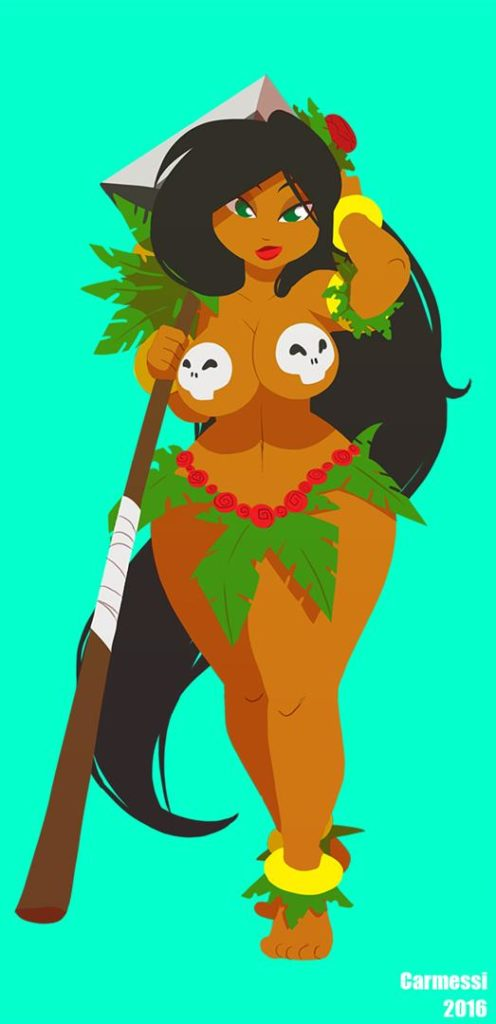 Thicc jungle girl