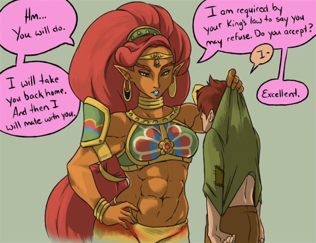 Huge muscular female gerudo