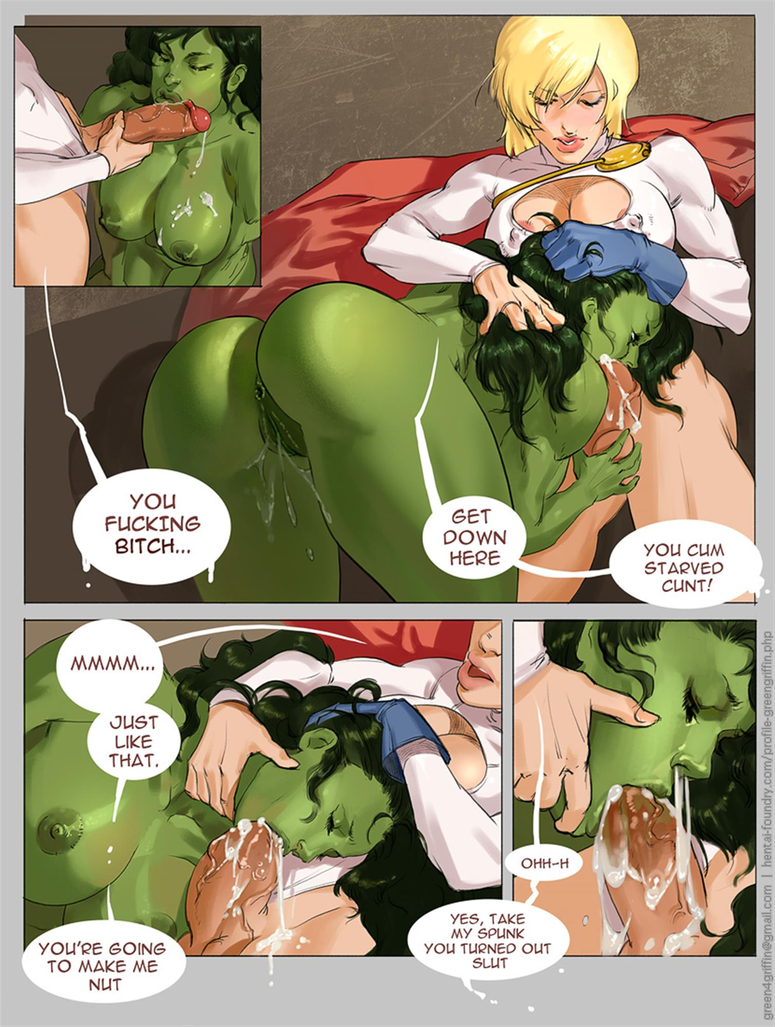 She-Hulk dominated by Powergirl