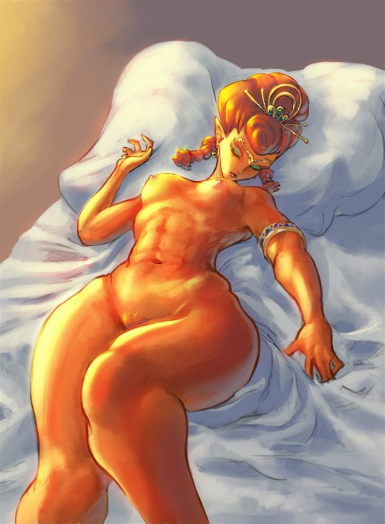 Riju sleeping nude muscular gerudo princess