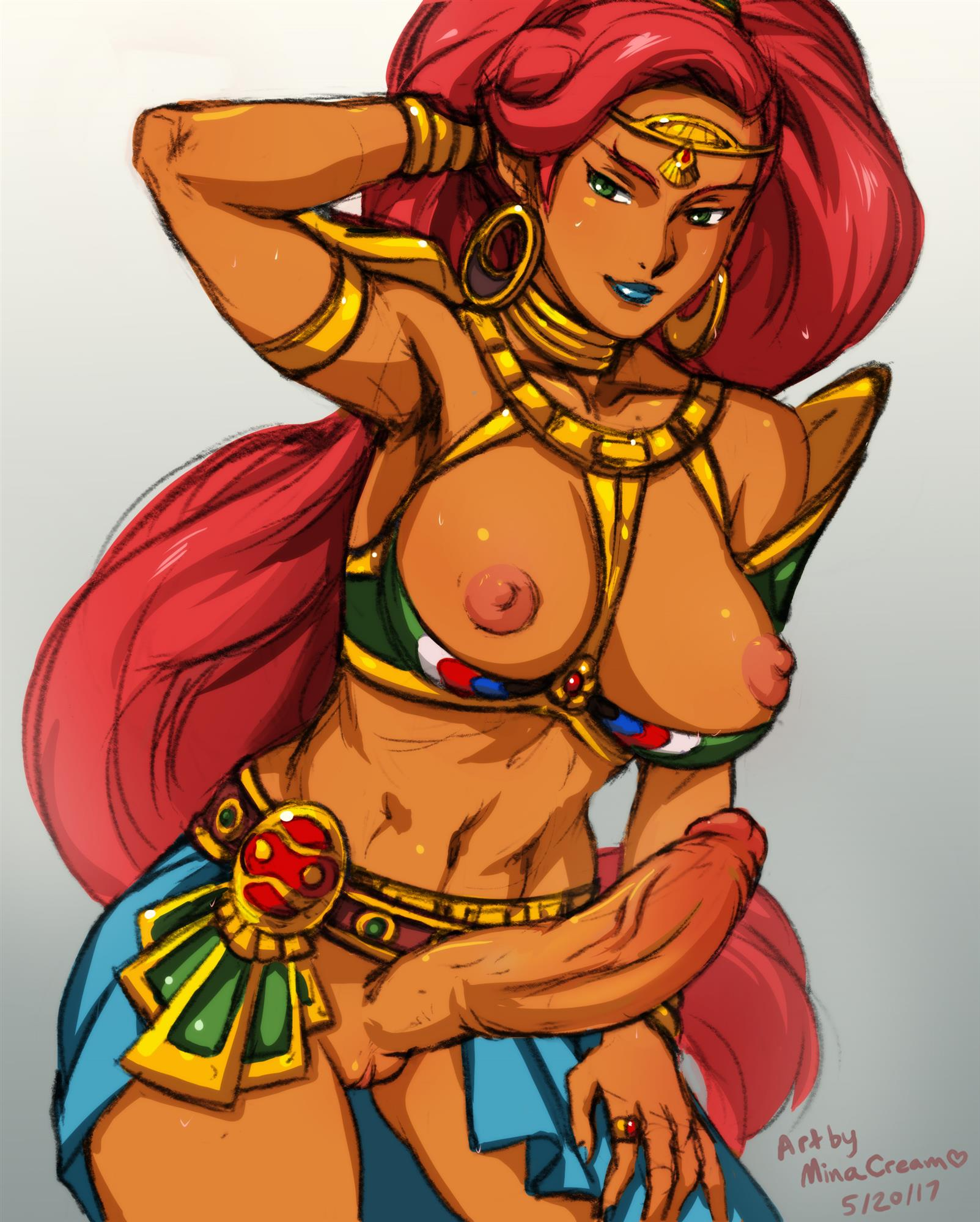 Nude Urbosa has a long erect curvy dick