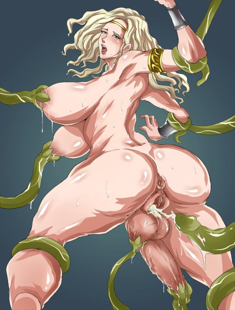 Futa Amazon getting the tentacle rape