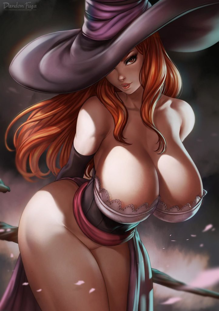 Sorceress has a huge cleavage
