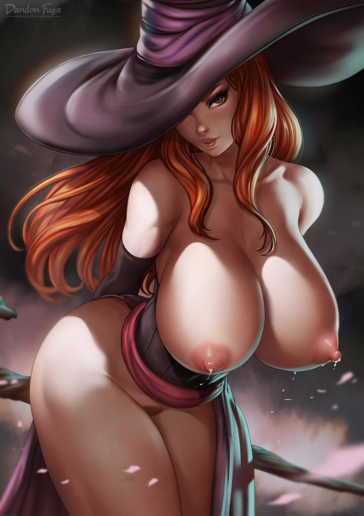 Sorceress has a huge tits