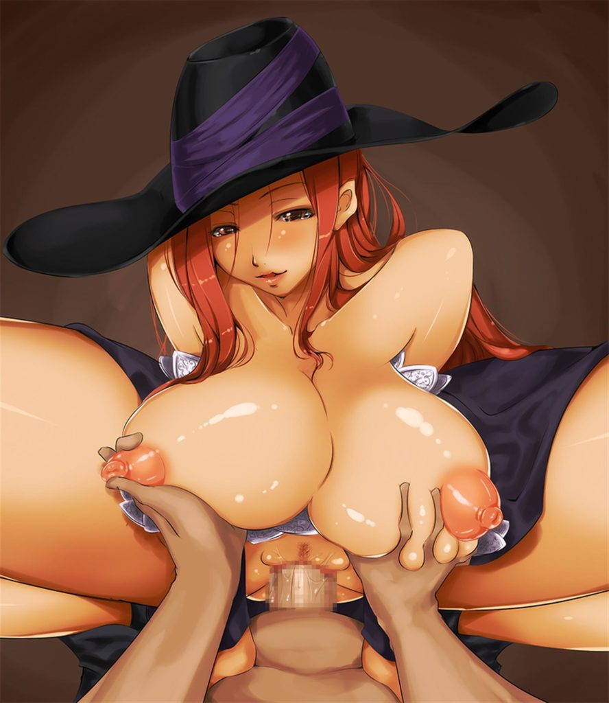 Sorceress riding a dick while getting her breasts fondled