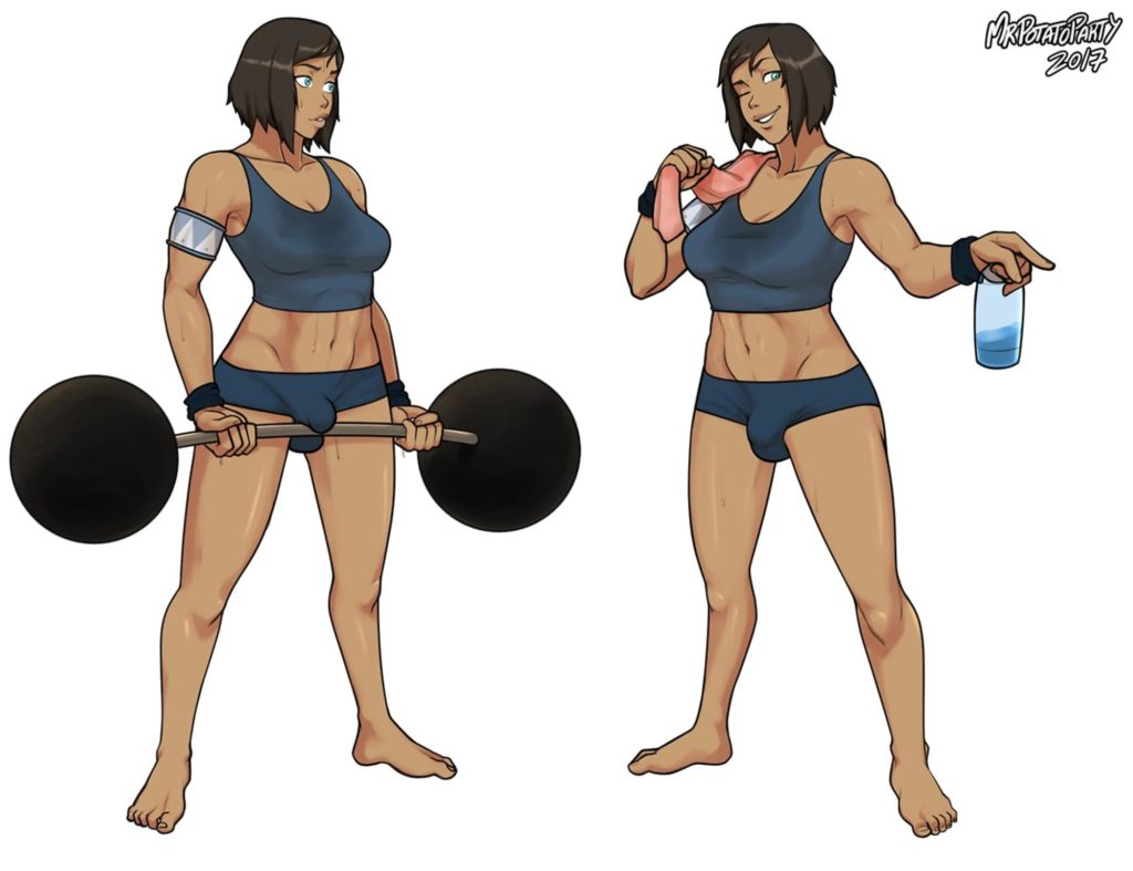 Futa Korra working out