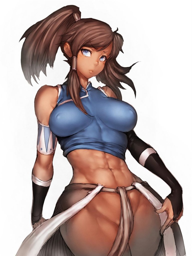 Korra looking very fit and muscular