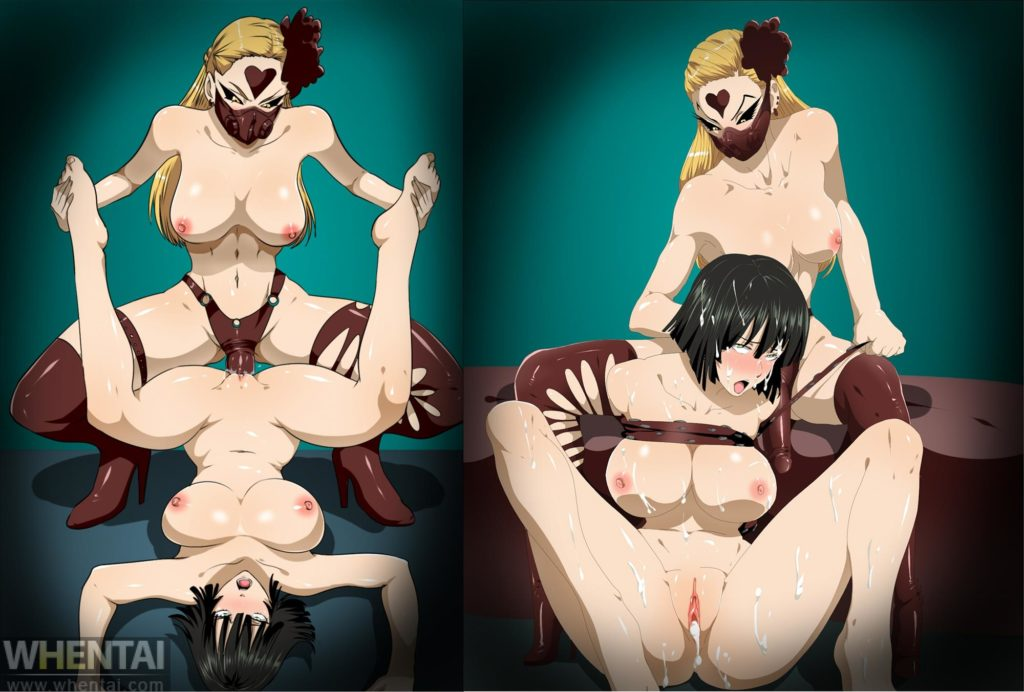 Do-s the dominatrix monster ties up Fubuki and fucks her with a strapon