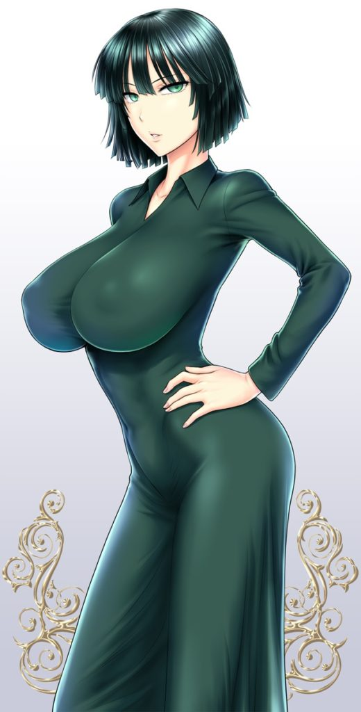 Fubuki with huge breasts