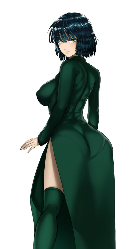 Fubuki in skintight clothing