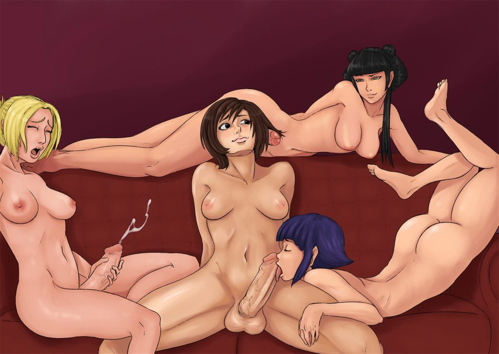 Mai and friends in a orgy