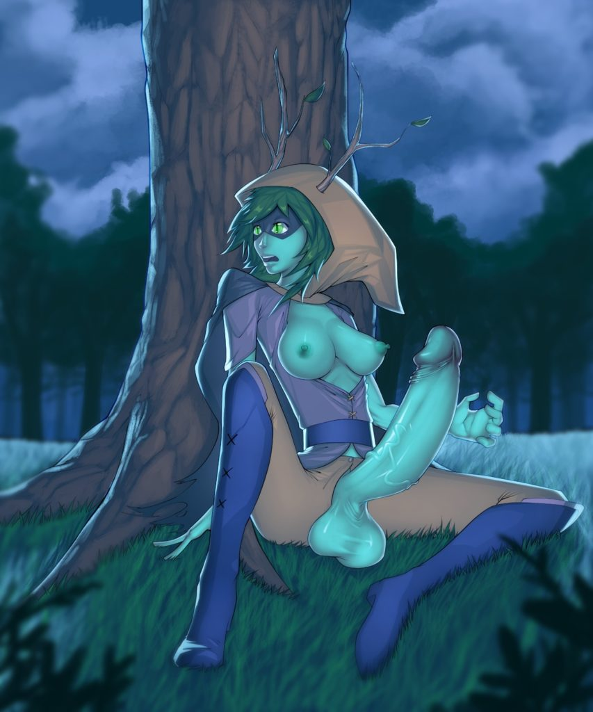 Huntress wizard wit a huge dick