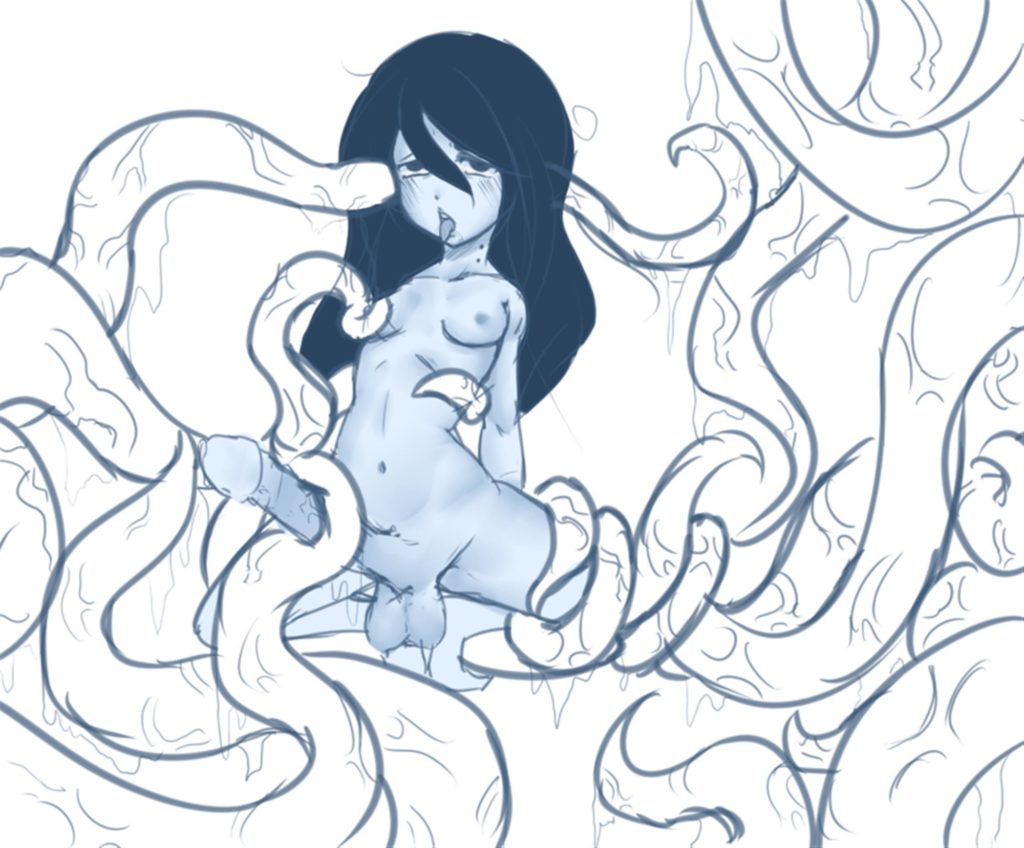 Tentacles jerking off futa Marceline