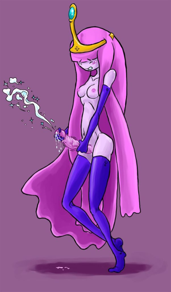 Princess Bubblegum masturbating