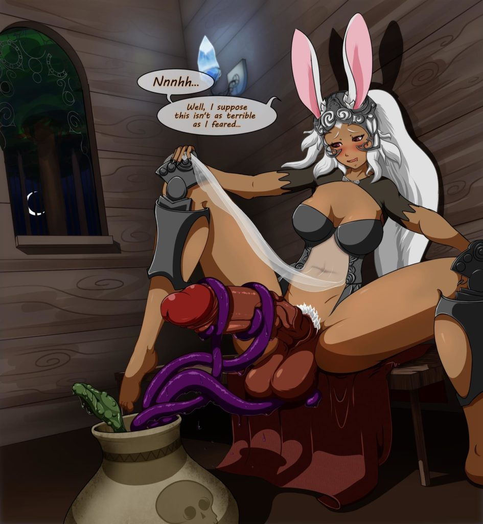 Futa Fran getting her dick jerked by tentacle plant