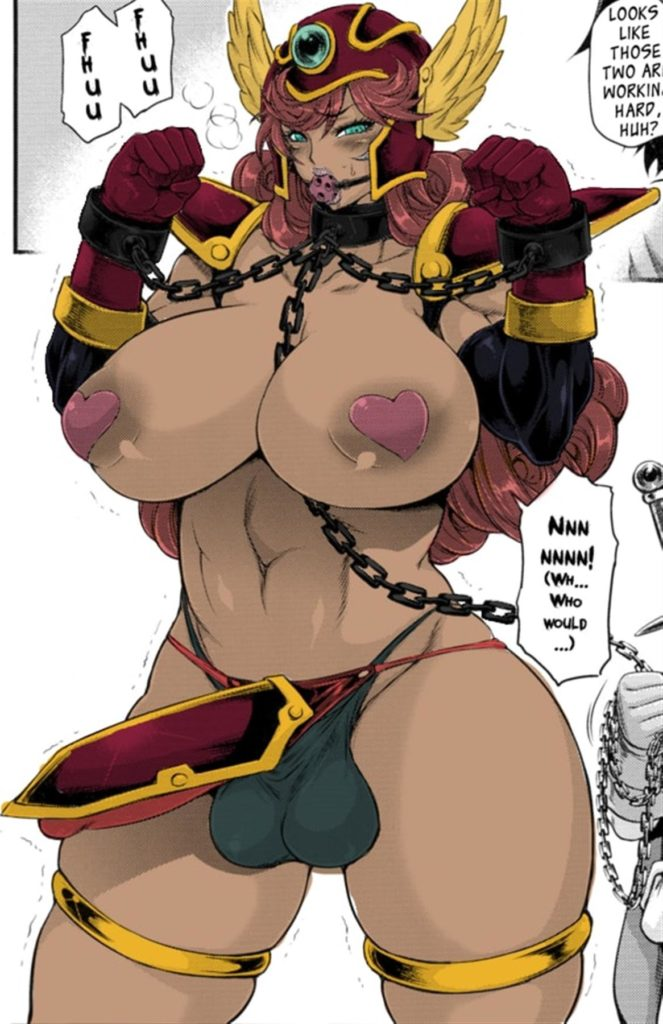 Futa warrior has dick armor