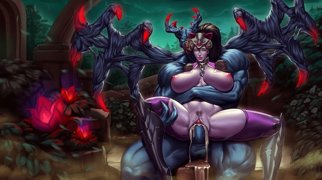 Big breasted Widowmaker getting fucked by a demon