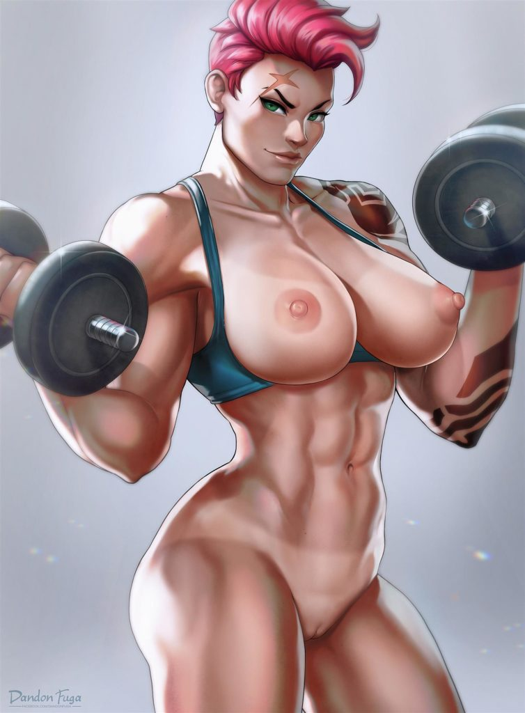 Zarya pumping iron