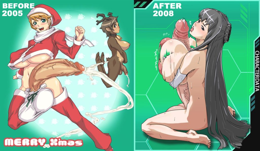 Futa in Santa outfit spraying cum