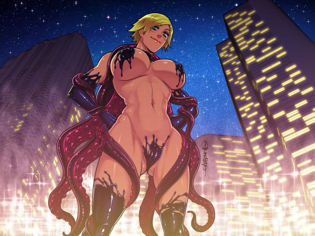 Hot nude tentacle girl