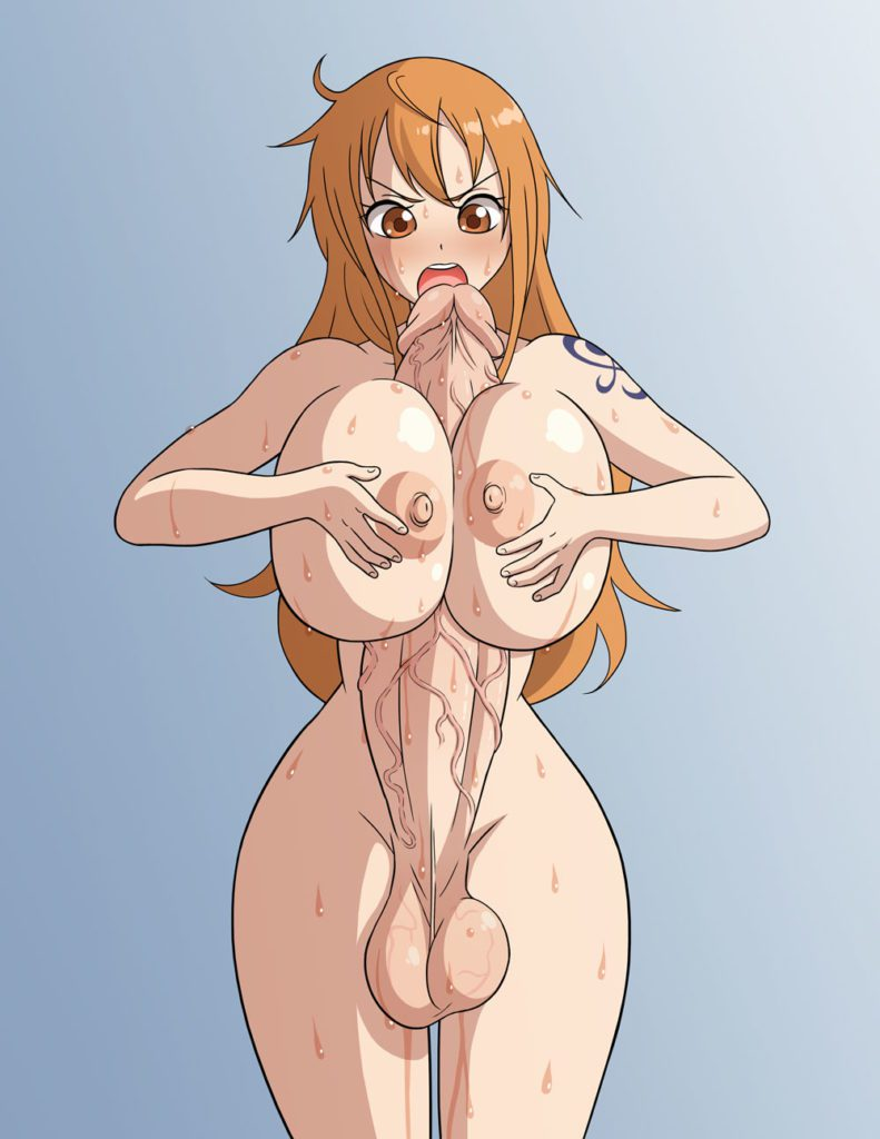 Futa Nami titfucking herself