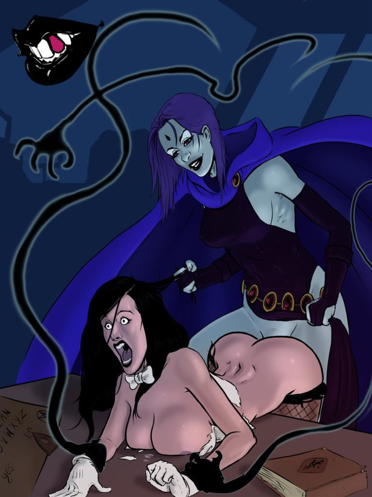 Futa Raven fucking Zatanna and pulling her hair