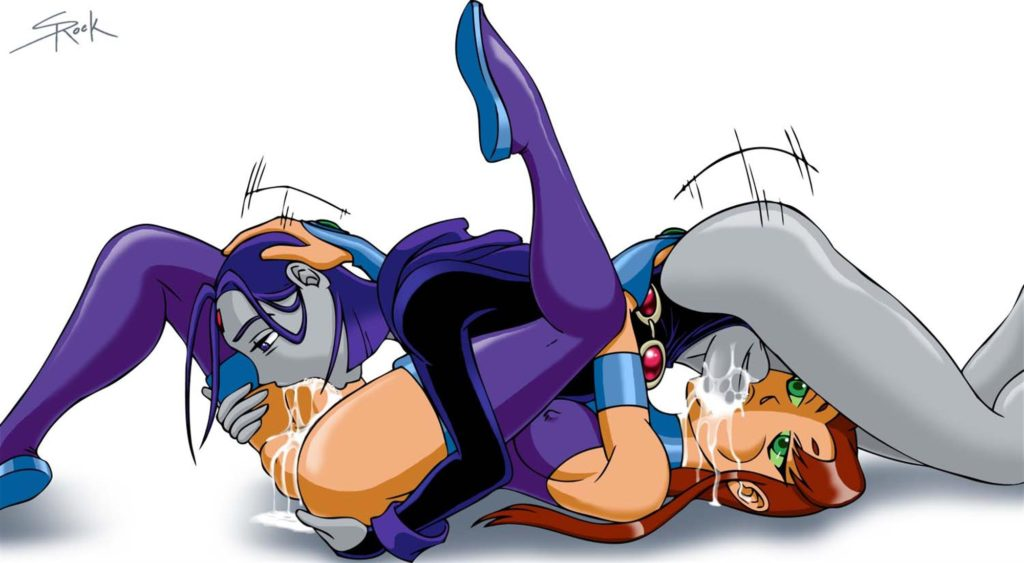 Raven and Starfire futanari 69