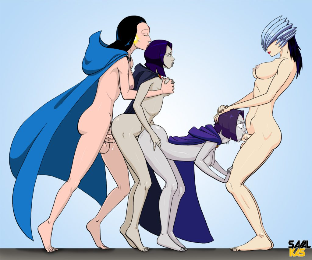 Teen Titans futa fuck train