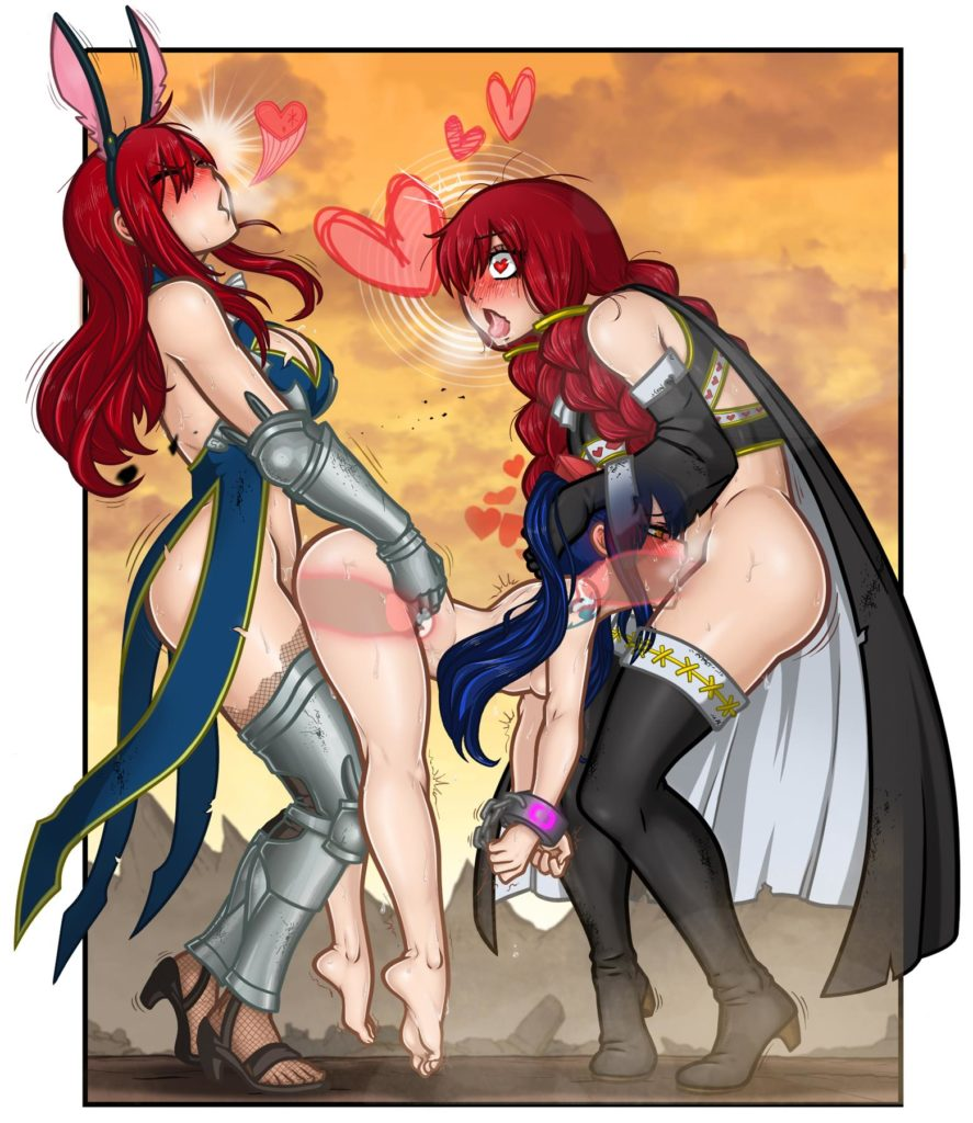 Futa Erza and Irene cumming in Wendys holes