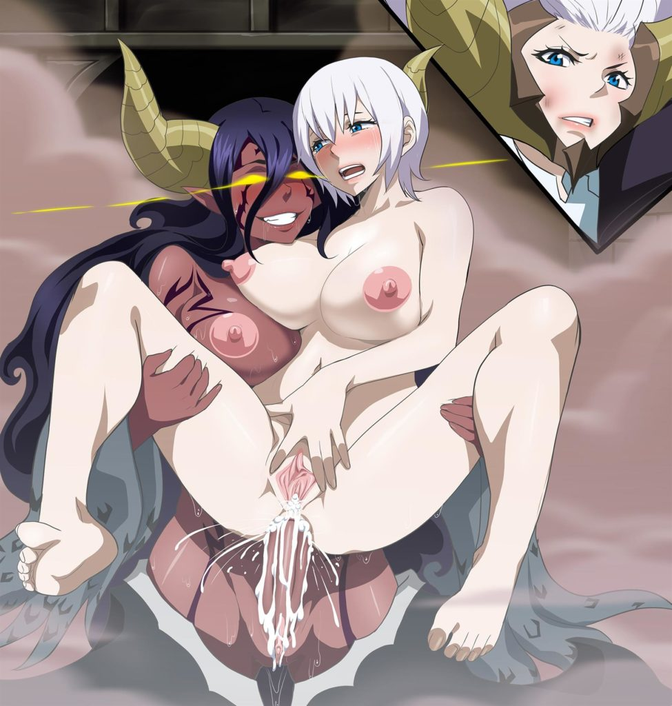 Futa demon Mirajane fucking Lisanna. Incest