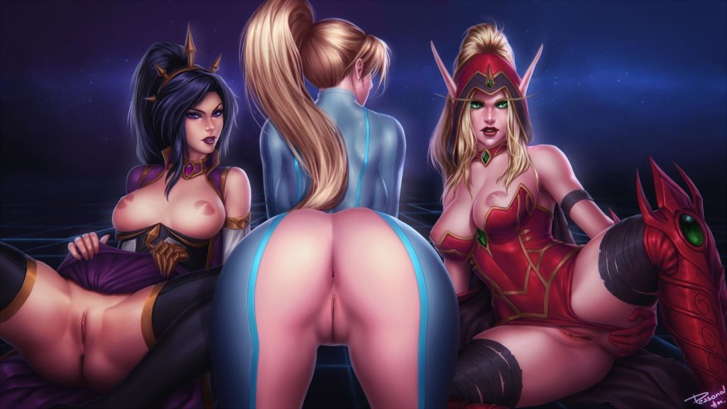 Li-ming,Nova and Valeera spreading their legs