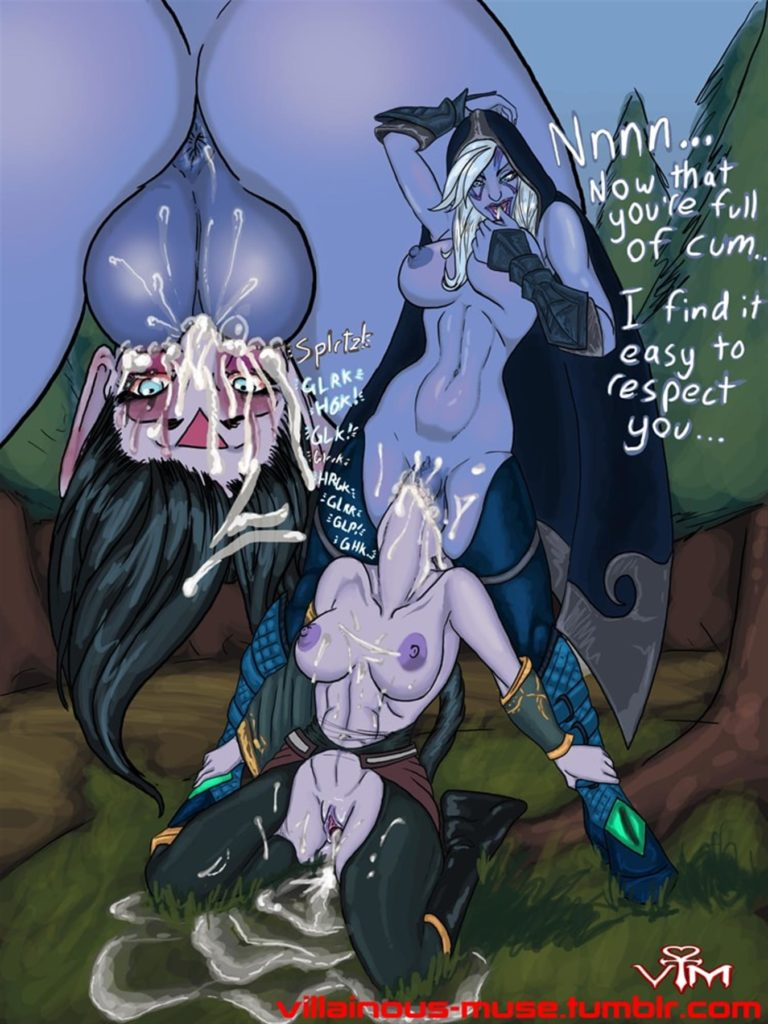 Futa Drow ranger fucking Templar assassins throat