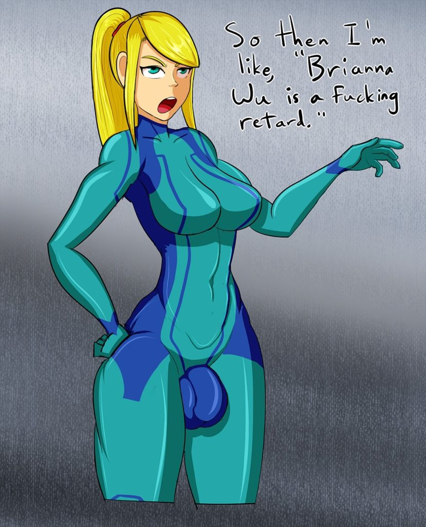 Futanari Samus Aran getting political