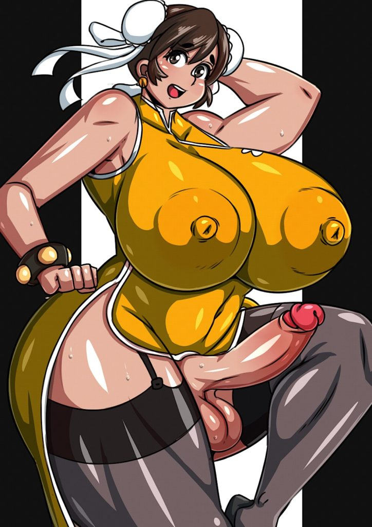 Thick and plump futanari Chun Li with huge tits