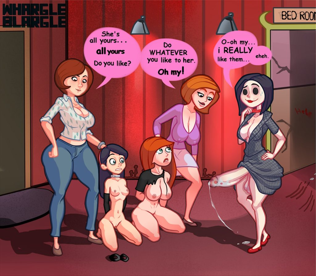 Kim Possible and Violet Parr about to get fucked by futa other mother