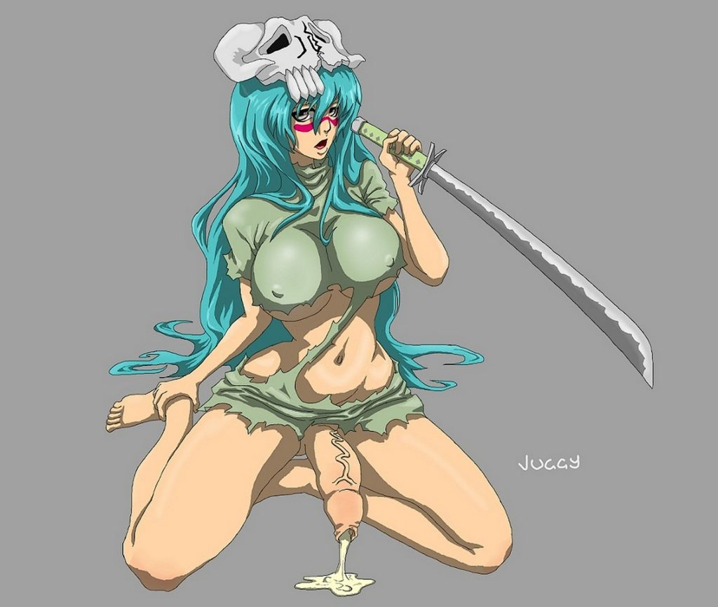 Futa Nelliel with a dick leaking cum