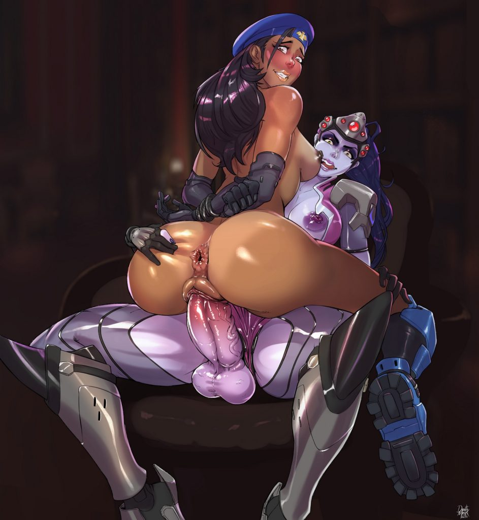 Deathmask - Futa Widowmaker Overwatch porn cartoon rule 34 hentai nudes