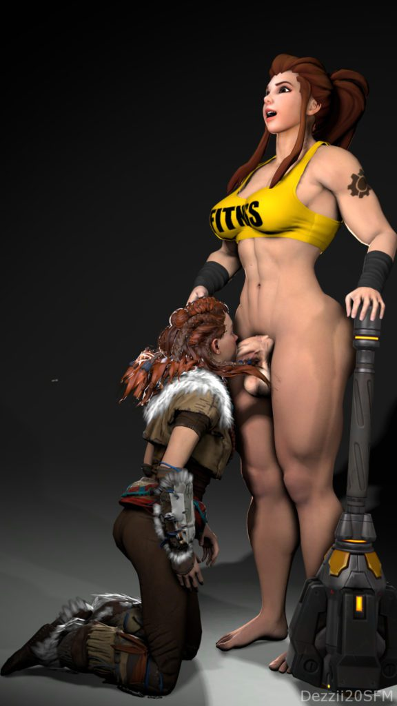 Dezzii20 - Futa Brigitte Overwatch porn rule 34 cartoon hentai nudes