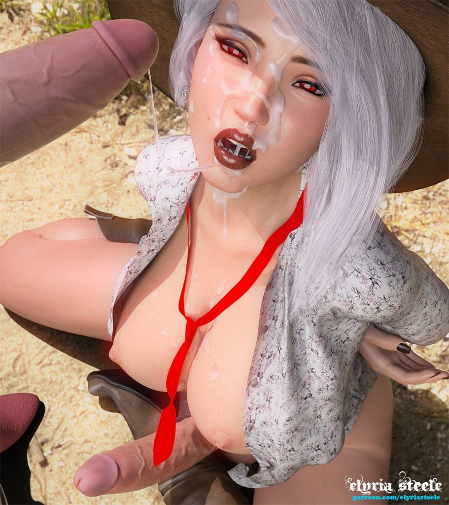 Elyria Steele - Futa Ashe Overwatch porn cartoon rule 34 hentai nudes