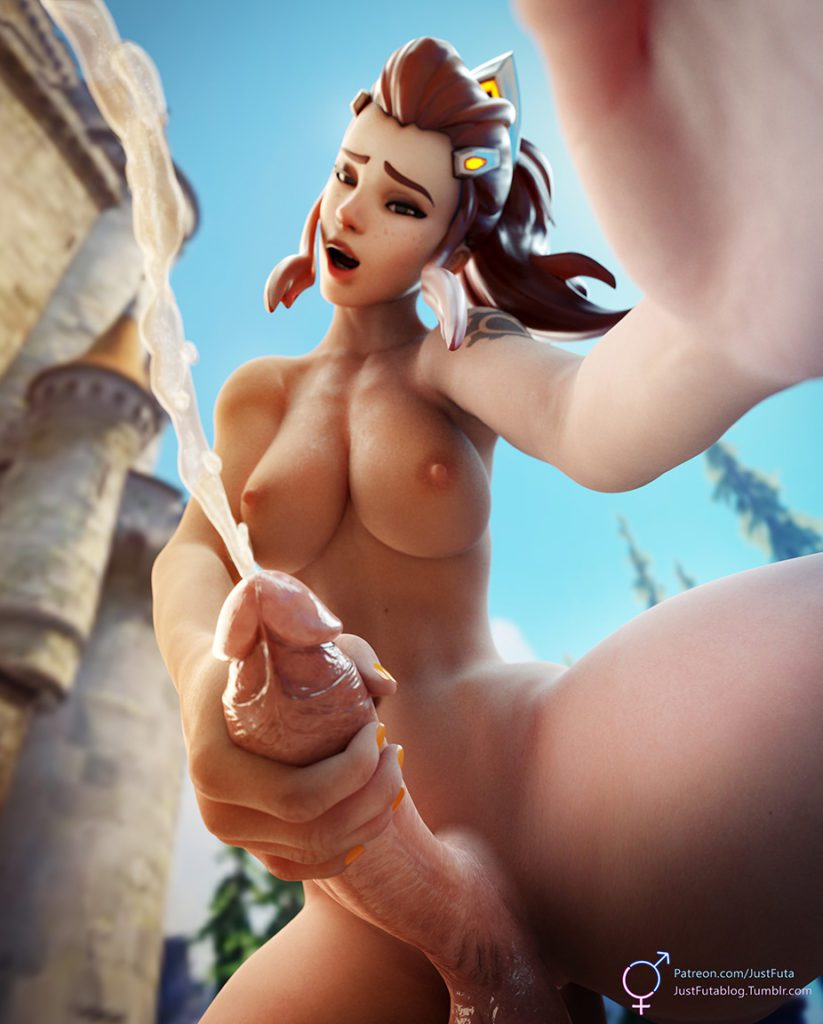 justfuta - Futa Brigitte Overwatch porn rule 34 cartoon hentai nudes