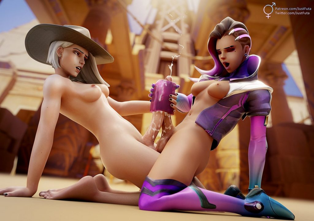 Justfuta - Futa Ashe Overwatch porn cartoon rule 34 hentai nudes