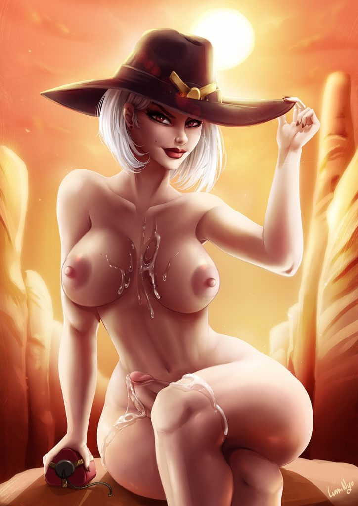 Luminyu - Futa Ashe Overwatch porn cartoon rule 34 hentai nudes