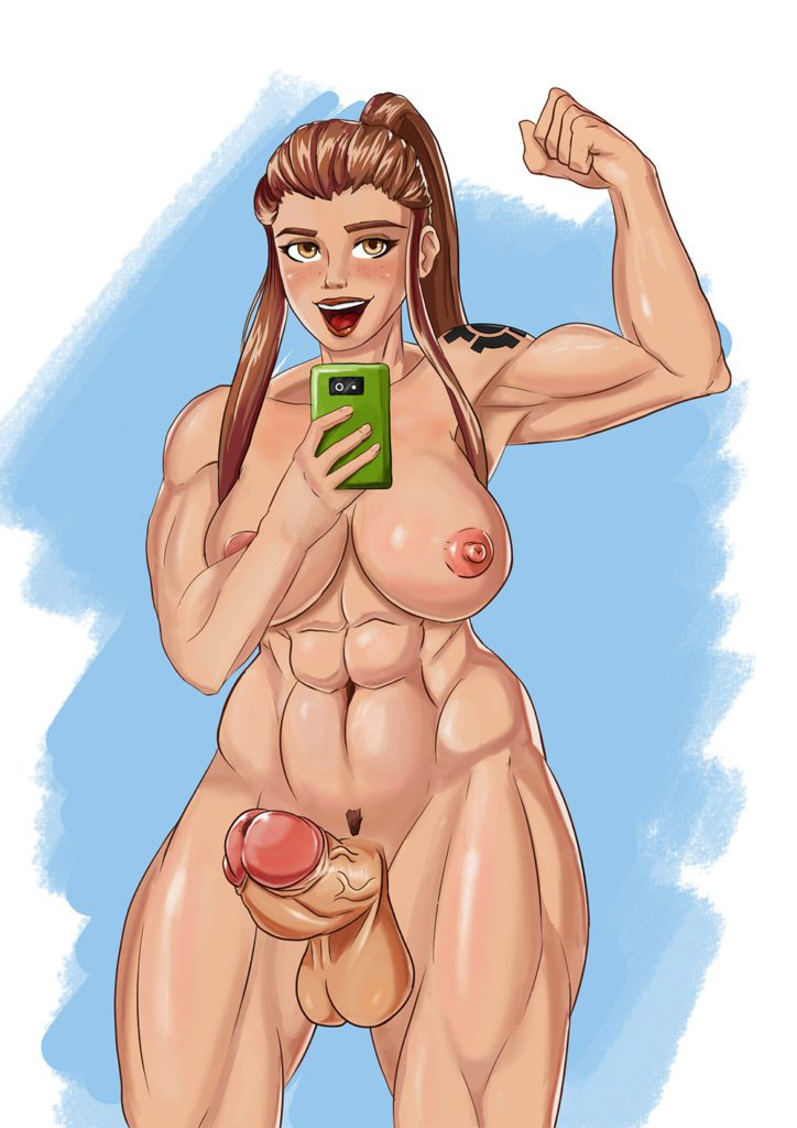 Saxwakuy - Futa Brigitte Overwatch porn rule 34 cartoon hentai nudes