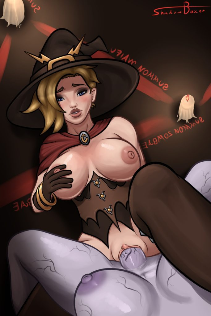 Shadowboxer - Futa Witch Mercy overwatch porn cartoon rule 34 hentai nudes