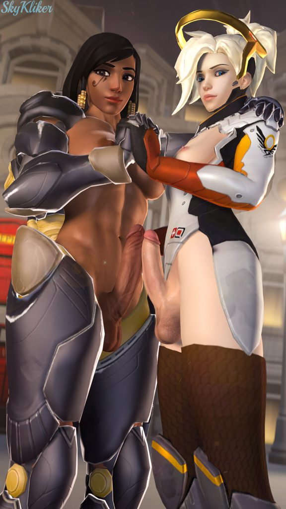 Skukliker - Futa Pharah Mercy overwatch porn cartoon rule 34 hentai nudes
