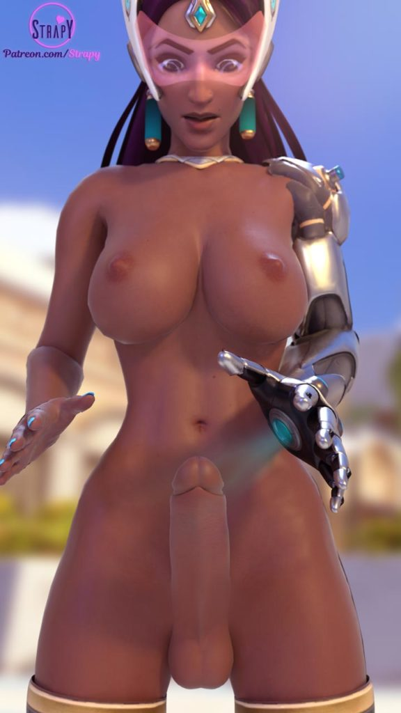 Strapy - Futa Symmetra Overwatch hentai rule 34 cartoon porn