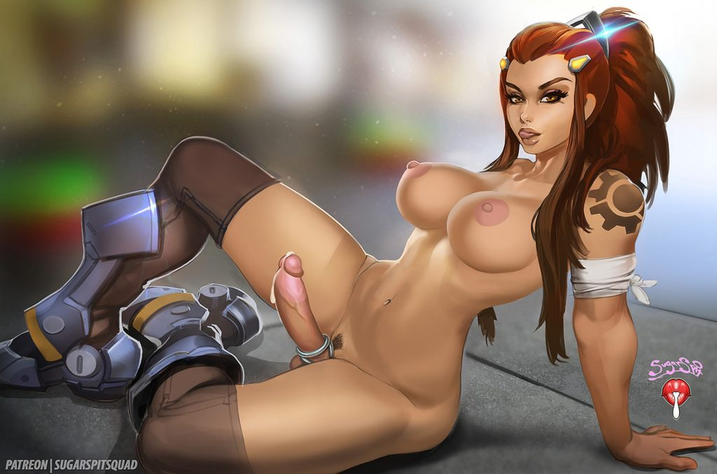Sugarspit - Futa Brigitte Overwatch porn rule 34 cartoon hentai nudes